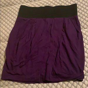 Purple skirt elastic waist